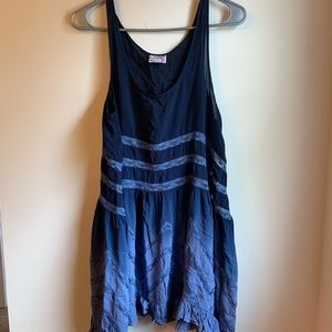 Free People Ombré Trapeze Slip Dress